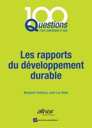 Les rapports du développement durable-afnor-9782124655632
