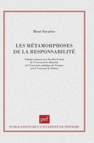 Les métamorphoses de la responsabilité - puf - presses universitaires de france - 9782130493495 -