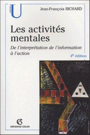 Les activités mentales - armand colin - 9782200267957 -