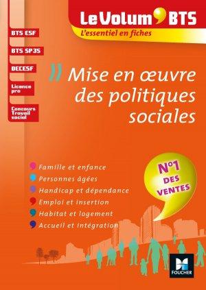 Le Volum' BTS - Mise en oeuvre des politiques sociales - foucher - 9782216149247 -