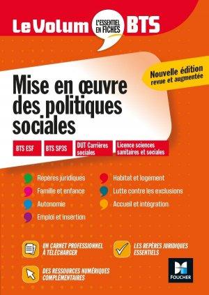 Le Volum' BTS - Mise en oeuvre des politiques sociales - Révision - foucher - 9782216158331 -