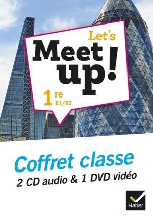 Let's Meet up ! - Anglais 2019 - Coffret CD DVD - hatier - 9782218999949 -
