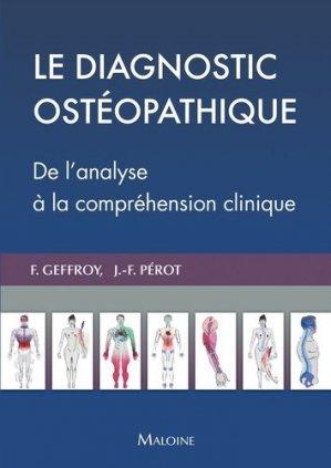 Le diagnostic ostéopathique - maloine - 9782224035631 -