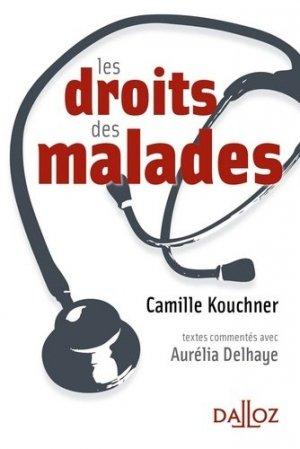 Le droit des malades - dalloz - 9782247109548 -