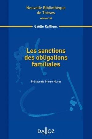 Les sanctions des obligations familiales - dalloz - 9782247136599 -