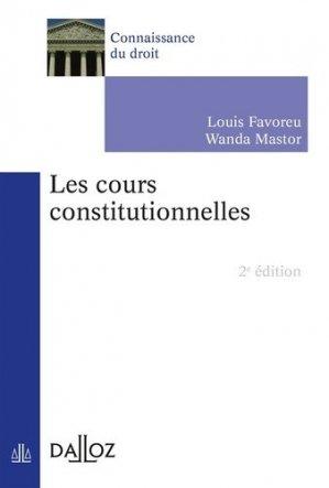 Les cours constitutionnelles. 2e édition - dalloz - 9782247161881 -