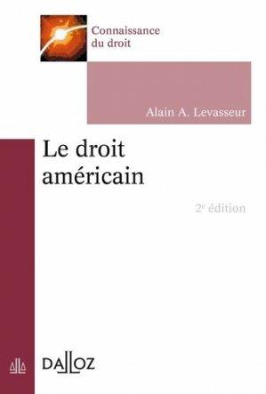 Le droit américain. 2e  édition - dalloz - 9782247168118 -