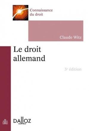 Le droit allemand. Edition 2018 - dalloz - 9782247176083 -