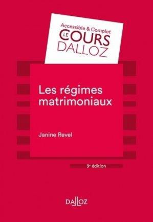 Les régimes matrimoniaux. 9e édition - dalloz - 9782247179701 -
