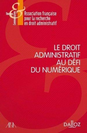 Le droit administratif au défi du numérique - dalloz - 9782247187379 -