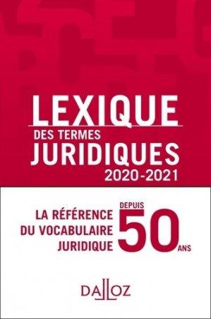 Lexique des termes juridiques - dalloz - 9782247197293 -