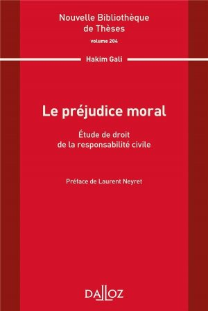 Le préjudice moral - dalloz - 9782247206322 -