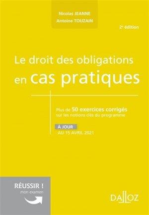 Le droit des obligations en cas pratiques - dalloz - 9782247208173 -
