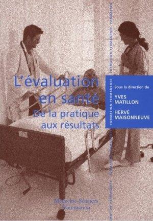 Lévaluation en santé - lavoisier msp - 9782257000385 -