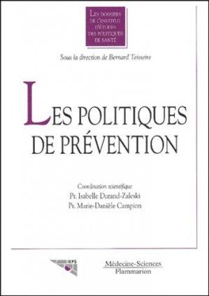 Les politiques de prévention - lavoisier msp - 9782257110640 -