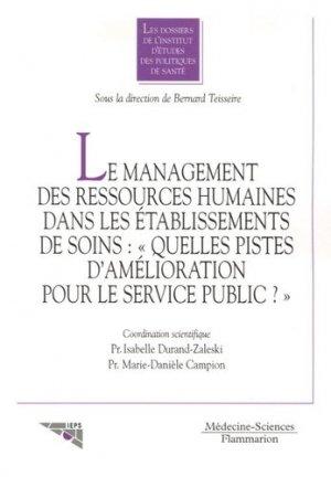 Le management des ressources humaines dans les établissements de soins : - lavoisier msp - 9782257110718 -