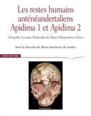 Les restes humains anténéandertaliens Apidima 1 et Apidima 2 - CNRS - 9782271126351 -