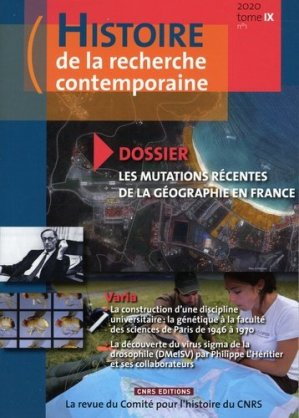 Les mutations récentes de la géographie en France - CNRS - 9782271135919 -