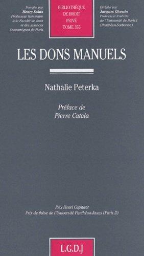 Les dons manuels - LGDJ - 9782275020839 -