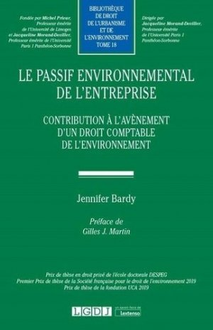 Le passif environnemental de l'entreprise - LGDJ - 9782275072982 -