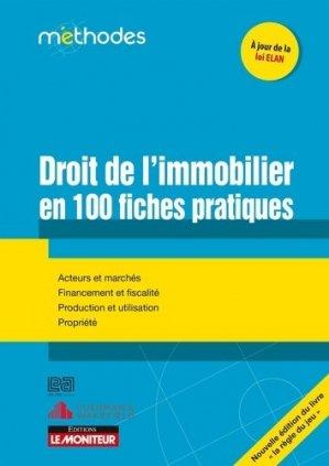 Le droit de l'immobilier en 100 fiches pratiques - groupe moniteur - 9782281133936 -