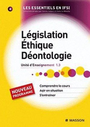 Législation Éthique Déontologie - elsevier / masson - 9782294709654 -