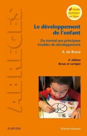 Le développement de l'enfant - elsevier / masson - 9782294749841 -