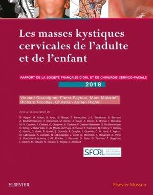 Les masses kystiques cervicales de l'adulte et de l'enfant - elsevier / masson - 9782294761300 -