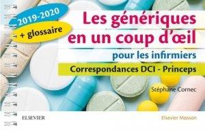 Les génériques en un coup d'oeil pour les infirmiers 2019-2020 - elsevier / masson - 9782294763724