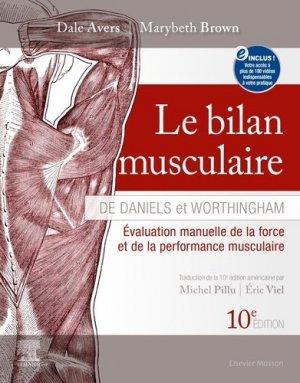 Le bilan musculaire de Daniels et Worthingham - elsevier / masson - 9782294767043 -