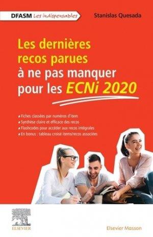 Les dernières recos parues à ne pas manquer pour les ECNi 2020 - elsevier / masson - 9782294772702 -