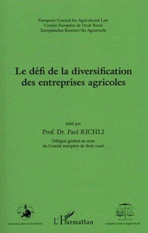 Le défi de la diversification des entreprises agricoles - l'harmattan - 9782296561922 -