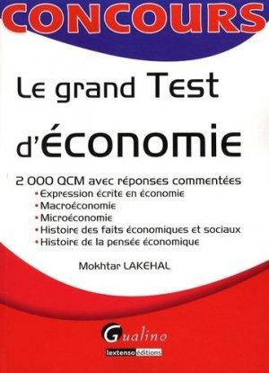 Le grand Test d'économie - gualino - 9782297011068 -