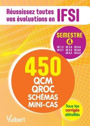 Le semestre 4 en 450 QCM, QROC, schémas et mini-cas - vuibert - 9782311203806 -