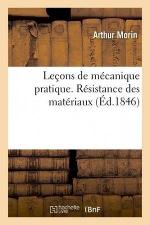 Leçons de mécanique pratique - Hachette/BnF - 9782329455051 -