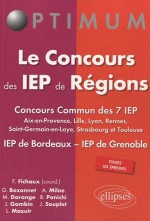 Le concours des IEP de Régions - Ellipses - 9782340002548 -