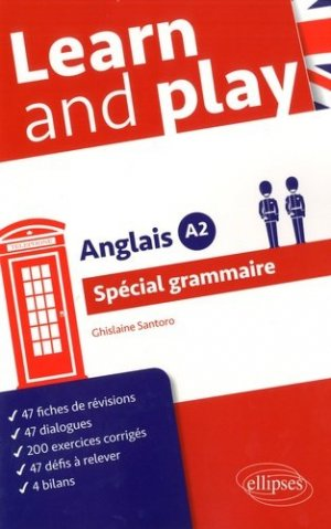 Learn and play. Anglais A2 Spécial grammaire - Ellipses - 9782340011915 -