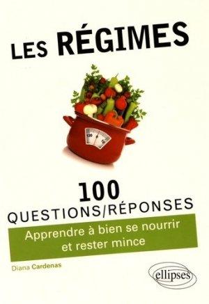 Les régimes / 100 questions-réponses de medecins - ellipses - 9782340015531 -