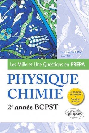 Physique-chimie 2e année BCPST - ellipses - 9782340035010 -