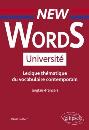 Lexique thématique de vocabulaire contemporain anglais-français - Ellipses - 9782340036321 -