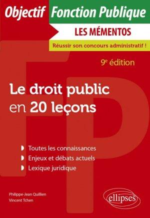 Le droit public en 20 leçons - Ellipses - 9782340045675 -