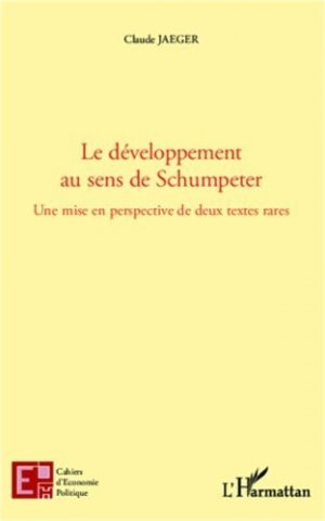 Le développement au sens de Schumpeter - l'harmattan - 9782343011592 -