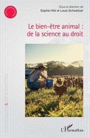 Le bien-être animal : de la science au droit - l'harmattan - 9782343159188 -