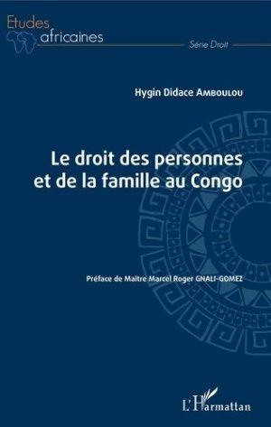 Le droit des personnes et de la famille au Congo - l'harmattan - 9782343190730 - https://fr.calameo.com/read/000015856623a0ee0b361