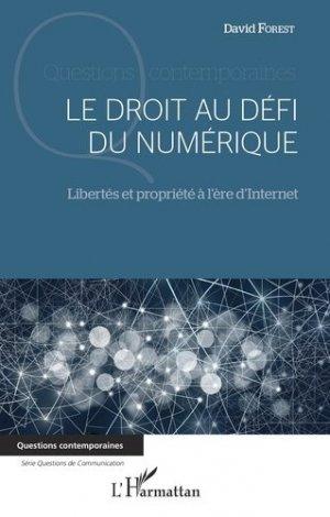 Le droit au défi du numérique - l'harmattan - 9782343205014 -