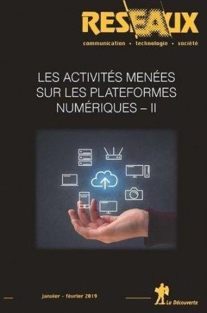 Les activités menées sur les plateformes numériques - La Découverte - 9782348042782 -