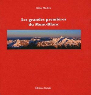 Les grandes premières du Mont-Blanc - guerin - 9782352210542