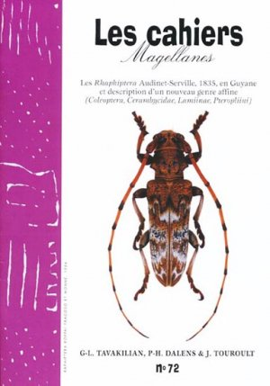 Les Rhaphiptera Audinet-Servill, 1835, en Guyane et description d'un nouveau genre affine - magellanes - 9782353870141 -