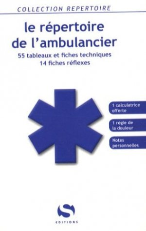 Le répertoire de l'ambulancier - s editions - 9782356400147 -
