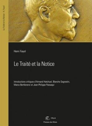 Le Traité et la Notice - presses des mines - 9782356716248 -